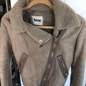 Acne lamb skin coat